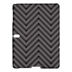 Background Gray Zig Zag Chevron Samsung Galaxy Tab S (10 5 ) Hardshell Case  by AnjaniArt