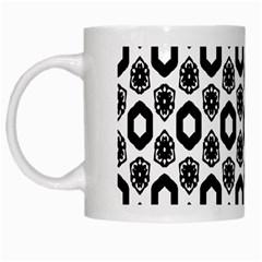 Background Pattern White Mugs by AnjaniArt
