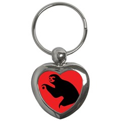 Animal Sloth Key Chains (heart)  by AnjaniArt