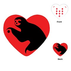 Animal Sloth Playing Cards (heart)  by AnjaniArt