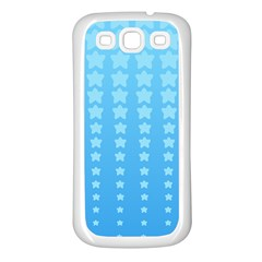 Blue Stars Background Samsung Galaxy S3 Back Case (white) by AnjaniArt