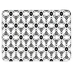 Black White Flower Samsung Galaxy Tab 7  P1000 Flip Case by AnjaniArt