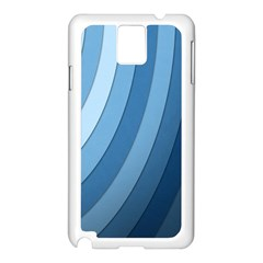 Blue Wave Samsung Galaxy Note 3 N9005 Case (white) by AnjaniArt