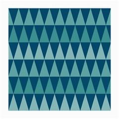 Blues Long Triangle Geometric Tribal Background Medium Glasses Cloth by AnjaniArt