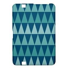 Blues Long Triangle Geometric Tribal Background Kindle Fire Hd 8 9  by AnjaniArt