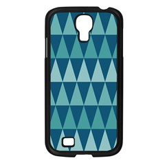 Blues Long Triangle Geometric Tribal Background Samsung Galaxy S4 I9500/ I9505 Case (black) by AnjaniArt