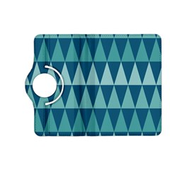 Blues Long Triangle Geometric Tribal Background Kindle Fire Hd (2013) Flip 360 Case by AnjaniArt