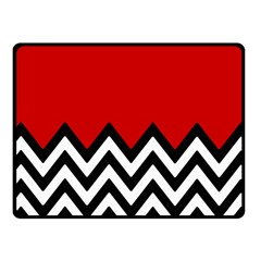 Chevron Red Fleece Blanket (small) by AnjaniArt
