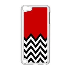 Chevron Red Apple Ipod Touch 5 Case (white) by AnjaniArt