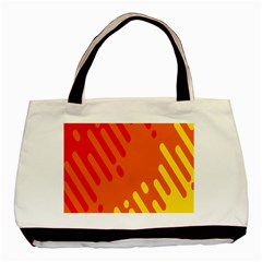 Color Minimalism Red Yellow Basic Tote Bag (two Sides) by AnjaniArt