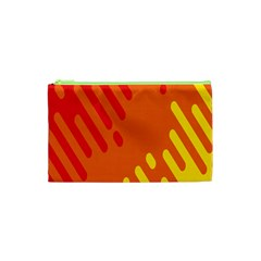 Color Minimalism Red Yellow Cosmetic Bag (xs) by AnjaniArt