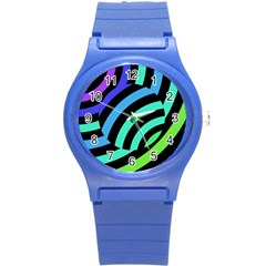 Colorful Roulette Ball Round Plastic Sport Watch (s) by AnjaniArt