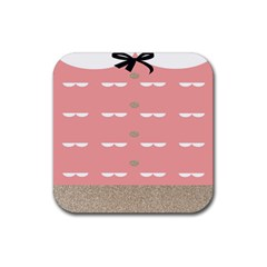 Cool Rose Rubber Square Coaster (4 Pack)  by AnjaniArt