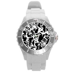 Dancing Yoga Round Plastic Sport Watch (l) by AnjaniArt