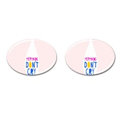 Dont Crt Fun Mermaids Pink Cufflinks (oval) by AnjaniArt