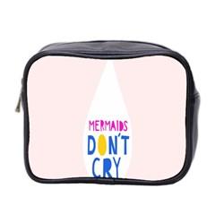 Dont Crt Fun Mermaids Pink Mini Toiletries Bag 2 Side by AnjaniArt