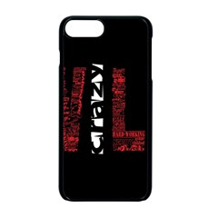 Crazy Wild Style Background Font Words Apple iPhone 7 Plus Seamless Case (Black) by AnjaniArt