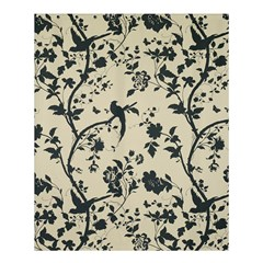 Cottonwood White Leaf Wallpaper Bird Shower Curtain 60  X 72  (medium)  by AnjaniArt