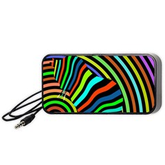 Colorful Cat Portable Speaker (black)  by AnjaniArt