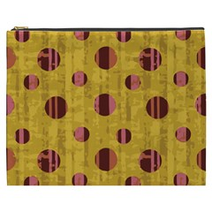 Dot Mustard Cosmetic Bag (xxxl)  by AnjaniArt