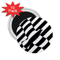 Flaying Bird Black White 2 25  Magnets (10 Pack)  by AnjaniArt