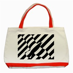 Flaying Bird Black White Classic Tote Bag (red) by AnjaniArt