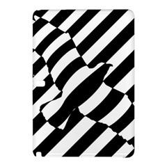 Flaying Bird Black White Samsung Galaxy Tab Pro 12.2 Hardshell Case by AnjaniArt