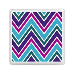 Fetching Chevron White Blue Purple Green Colors Combinations Cream Pink Pretty Peach Gray Glitter Re Memory Card Reader (square)  by AnjaniArt