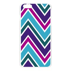 Fetching Chevron White Blue Purple Green Colors Combinations Cream Pink Pretty Peach Gray Glitter Re Apple Seamless iPhone 6 Plus/6S Plus Case (Transparent) by AnjaniArt