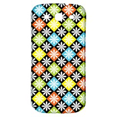 Diamond Argyle Pattern Flower Samsung Galaxy S3 S Iii Classic Hardshell Back Case by AnjaniArt