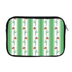 Flower Background Green Apple Macbook Pro 17  Zipper Case