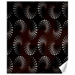 Free Dot Spiral Seamless Canvas 20  X 24   by AnjaniArt