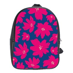 Flower Red Blue School Bags (xl)  by AnjaniArt