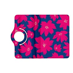 Flower Red Blue Kindle Fire Hd (2013) Flip 360 Case by AnjaniArt