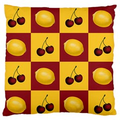Fruit Pattern Large Flano Cushion Case (two Sides) by AnjaniArt