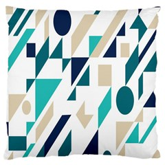 Geometric Large Cushion Case (two Sides) by AnjaniArt