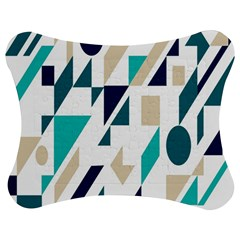 Geometric Jigsaw Puzzle Photo Stand (Bow) by AnjaniArt
