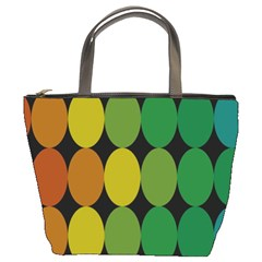 Geometry Round Colorful Bucket Bags by AnjaniArt