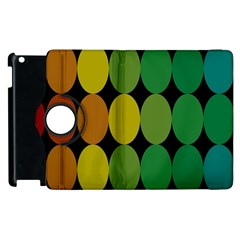 Geometry Round Colorful Apple iPad 2 Flip 360 Case by AnjaniArt