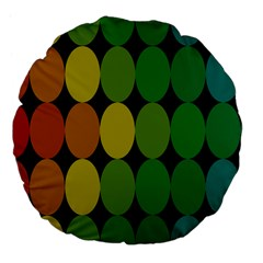 Geometry Round Colorful Large 18  Premium Flano Round Cushions by AnjaniArt