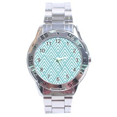 Geometric Blue Stainless Steel Analogue Watch by AnjaniArt