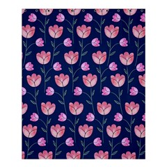 Flower Tulip Floral Pink Blue Shower Curtain 60  X 72  (medium)  by AnjaniArt