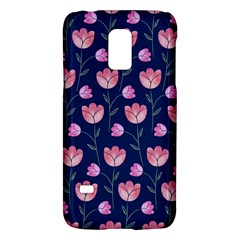 Flower Tulip Floral Pink Blue Galaxy S5 Mini by AnjaniArt