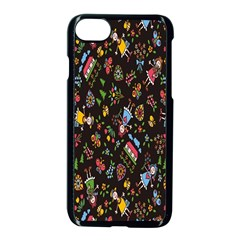 Happy Family Flower Home Sweet Bee Apple Iphone 7 Seamless Case (black) by AnjaniArt
