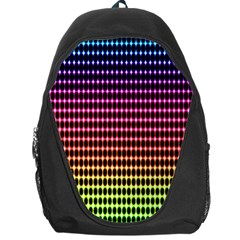 Halftone Pattern Rainbow Backpack Bag by AnjaniArt