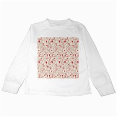 Heart Surface Kiss Flower Bear Love Valentine Day Kids Long Sleeve T Shirts by AnjaniArt