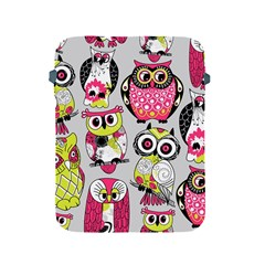 Illustration Seamless Colourful Owl Pattern Apple Ipad 2/3/4 Protective Soft Cases by AnjaniArt