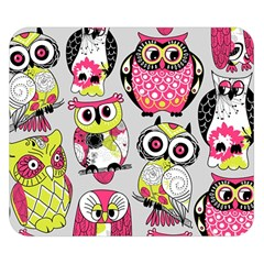Illustration Seamless Colourful Owl Pattern Double Sided Flano Blanket (small)  by AnjaniArt