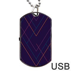 Line Color Dog Tag Usb Flash (one Side) by AnjaniArt