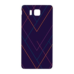 Line Color Samsung Galaxy Alpha Hardshell Back Case by AnjaniArt
